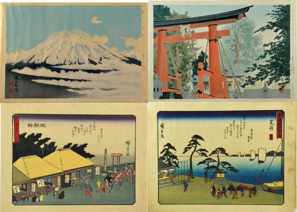 (4) Japanese Woodblock Prints