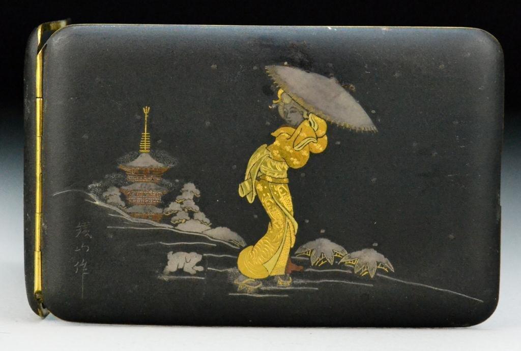 Japanese Meiji Period Mixed-Metal Cigarette Case