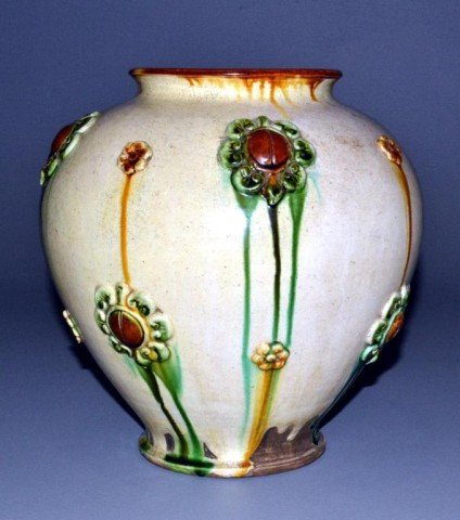 Chinese Tang Style Pottery Jar With Sancai Glaze
