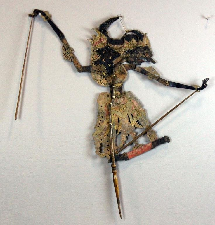 Chinese Tibetan Wood & Copper Puppet