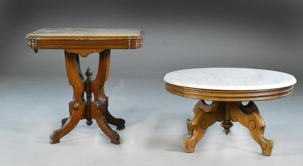 (2) Pc. Eastlake Marble Topped Tables