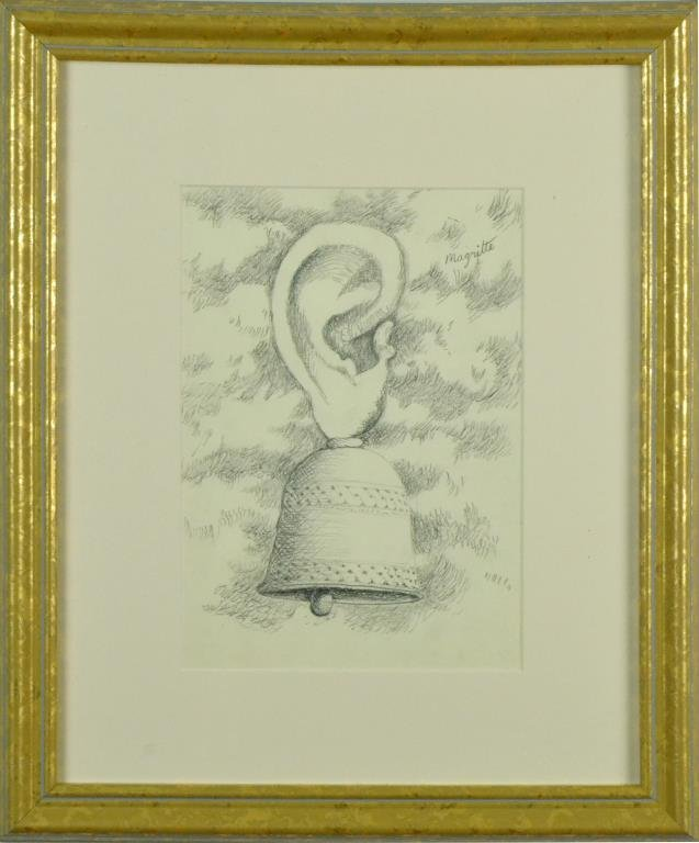 Bears The Signature Rene Magritte Graphite On Paper - 2