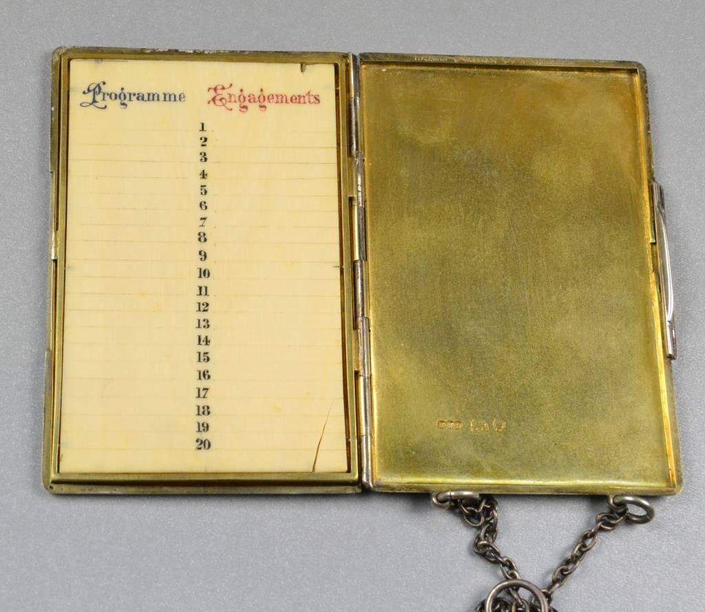 Sterling Silver Antique Appointment Book