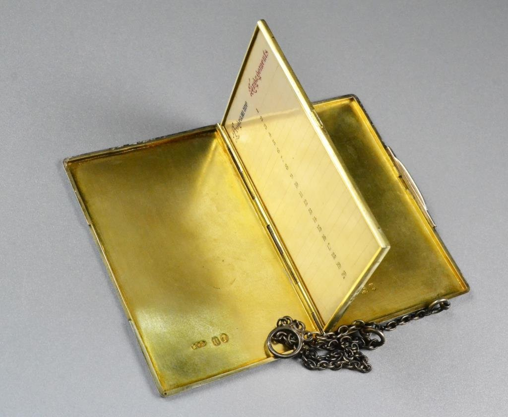 Sterling Silver Antique Appointment Book - 5
