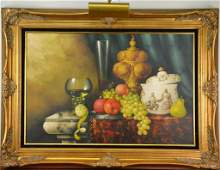 P. Kroton Oil Painting on Canvas