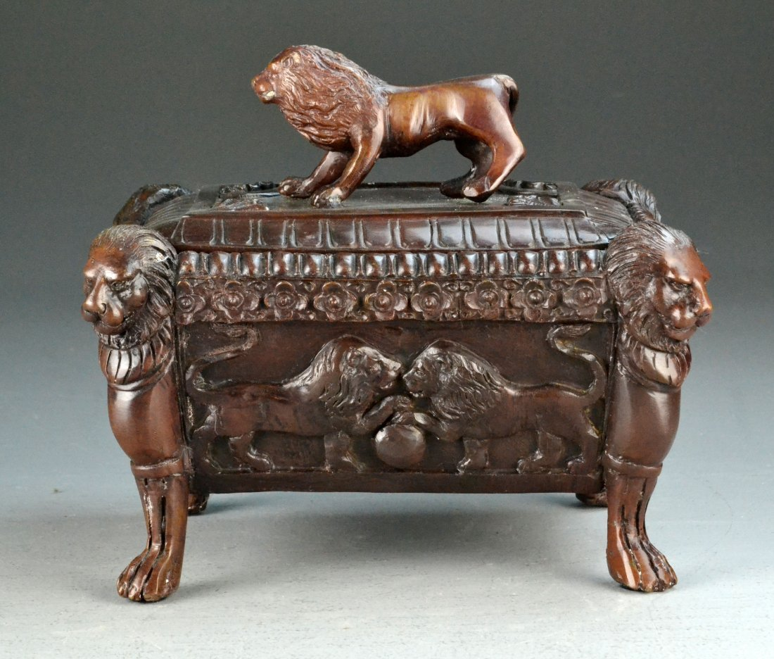 Maitland-Smith Bronze Footed Oriental Box
