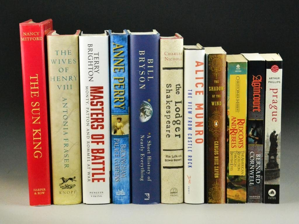 (11) Near Mint Condition Hardcover & Paperbacks