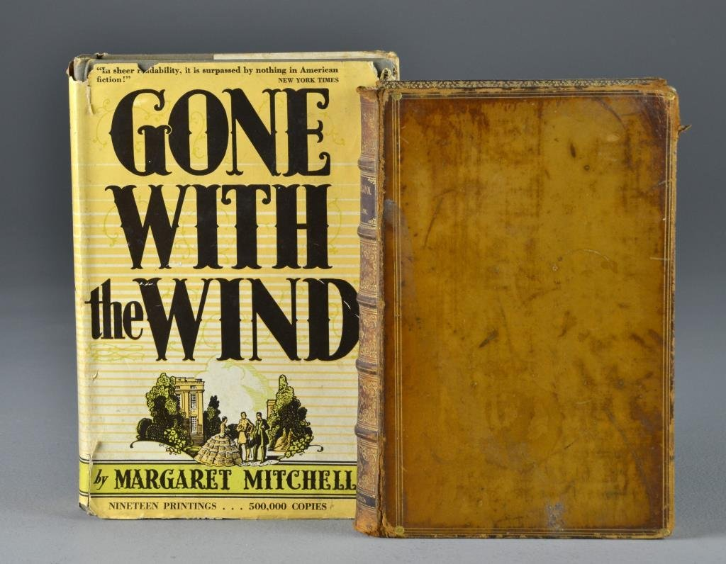 (2) 1892 Hyperion By Longfellow 1936 Gone With The Wind