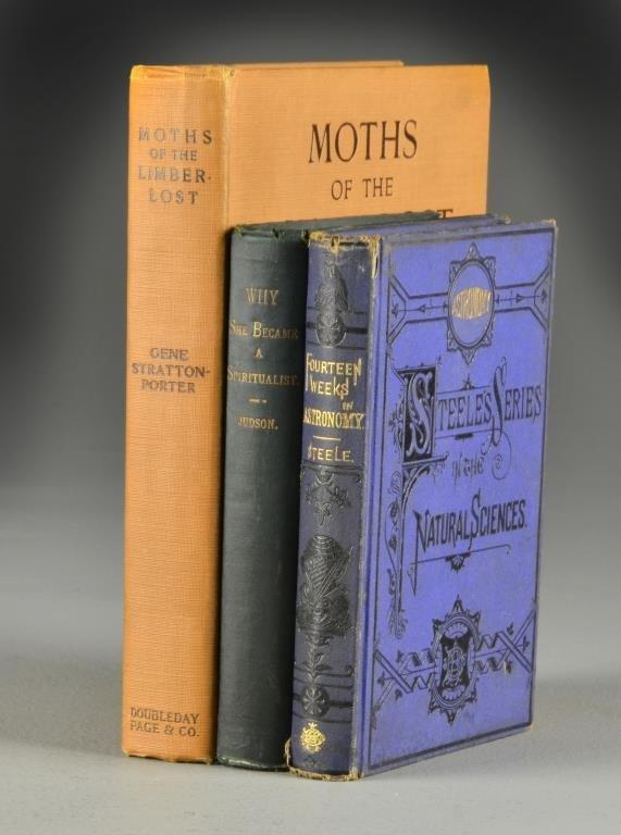 (3) 1924 Moths,  1869 Astronomy, 1891 Spiritualist Book