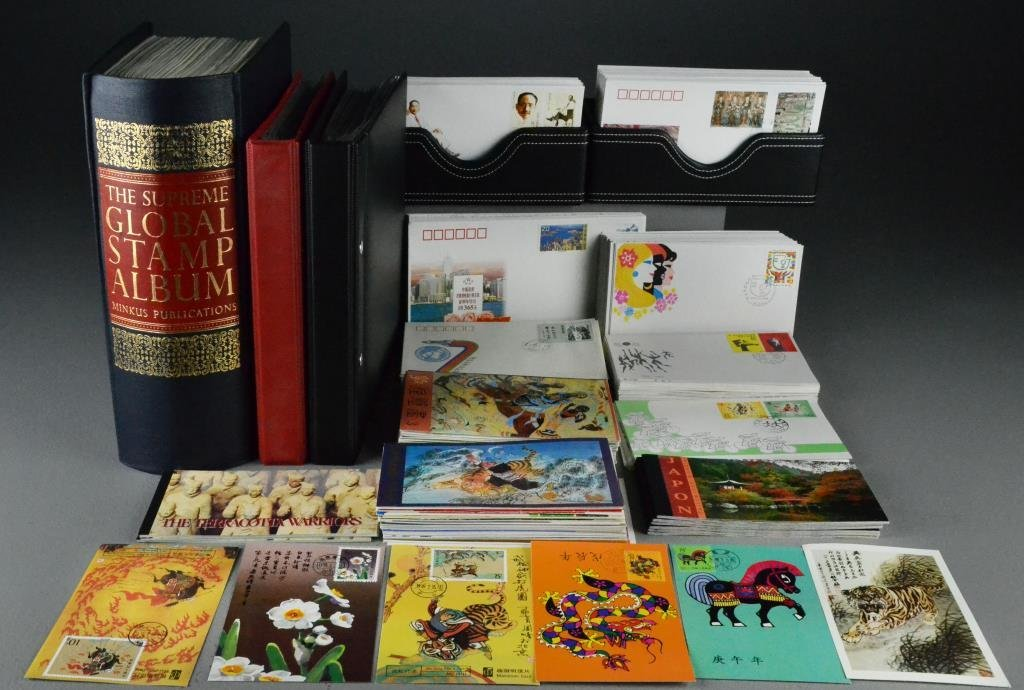 Chinese & World  Stamps, Albums, folders, Covers, Etc.