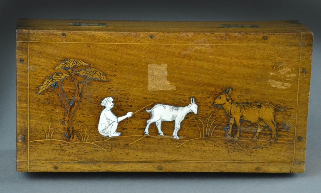 Bone Inlaid Middle Eastern Jewelry Box