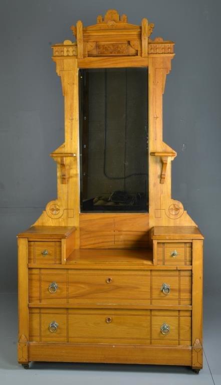 Period Carved Oak Eastlake Dresser