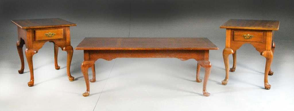 (3) Chippendale Style End Tables and Coffee Table