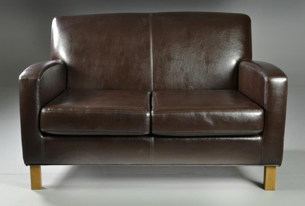 A Contemporary Leather Sofa