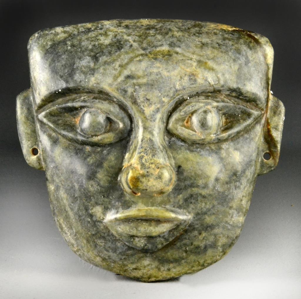 An Olmec Style Serpintine Mask
