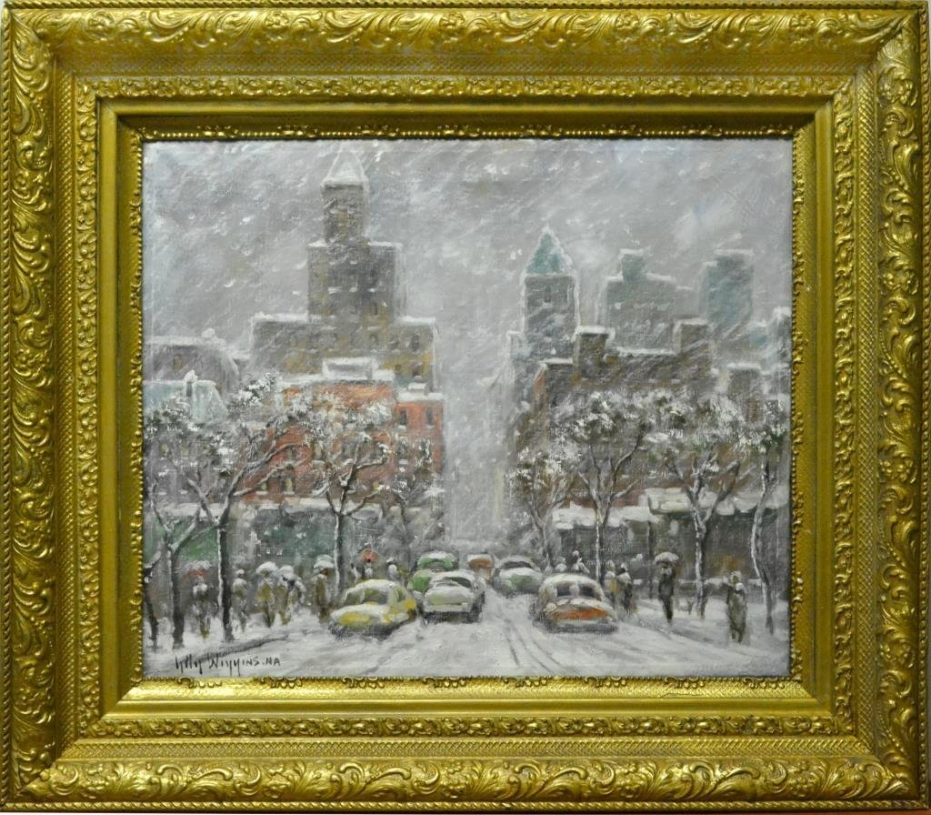 Guy Carleton Wiggins Oil Painting On Canvas