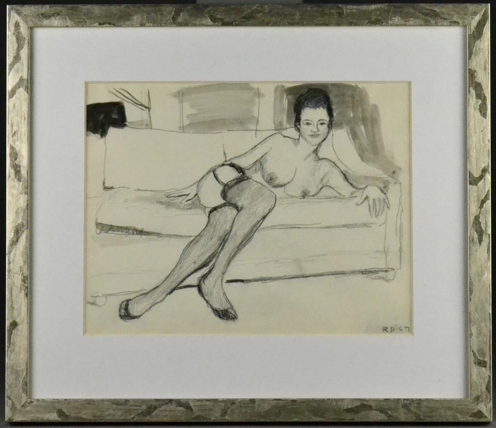 Bears The Signature Richard Diebenkorn Ink Wash & Graph