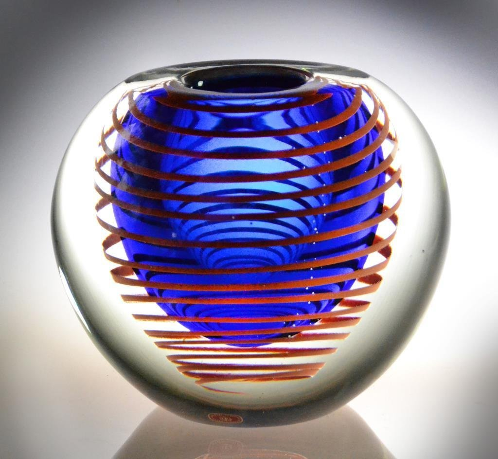 Stanislav Libensky Art Glass Vase