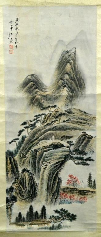 Chinese Scroll Painting Manner of Zhang Daqian