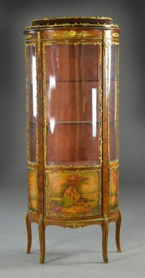 French Vernis Martin Style Ormolu Mounted Vitrine
