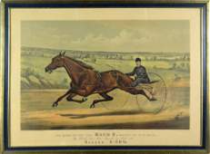 Currier  Ives Queen of the Turf MAUD S  Color Litho