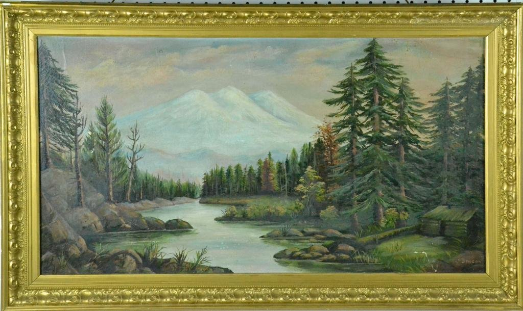 Charles E. Benson Oil Painting on Canvas