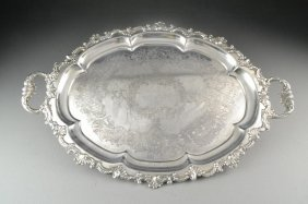 Old Sheffield Plate Cheltenham & Co. Serving Tray