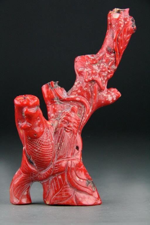 Chinese Carved Red Coral