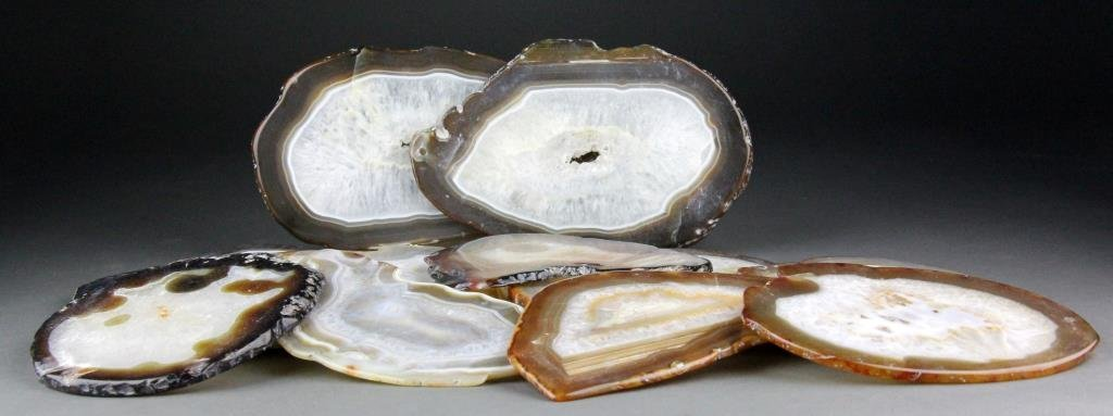 (65) Agate Geode Slices