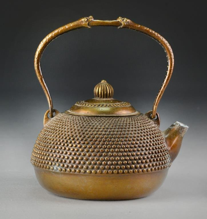 Chinese Bronze Tea Pot
