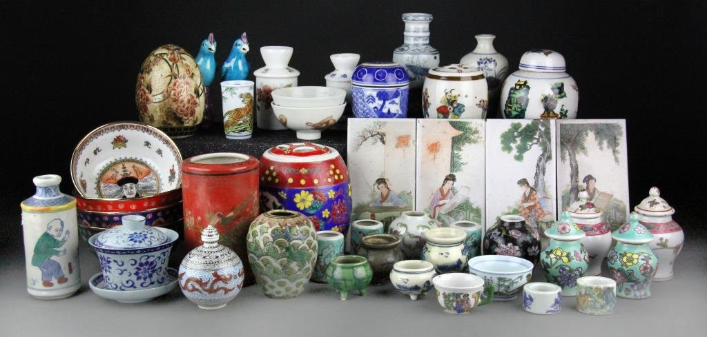 (Over 70) Pcs. Chinese Miscellaneous Porcelain Items