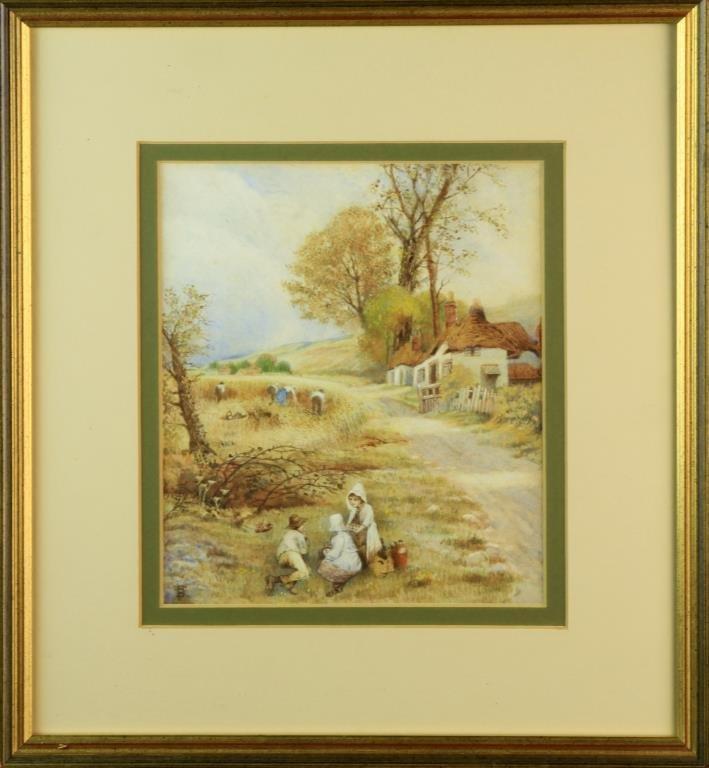 Myles Birket Foster Watercolor Painting on Paper