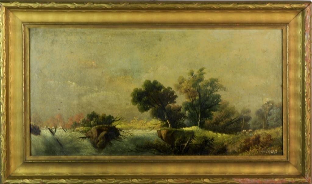 William Merrit Post Oil Painting on Board