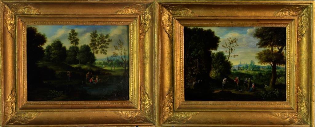 (Pr) 17th C. Flemish School Oil Paintings on Copper