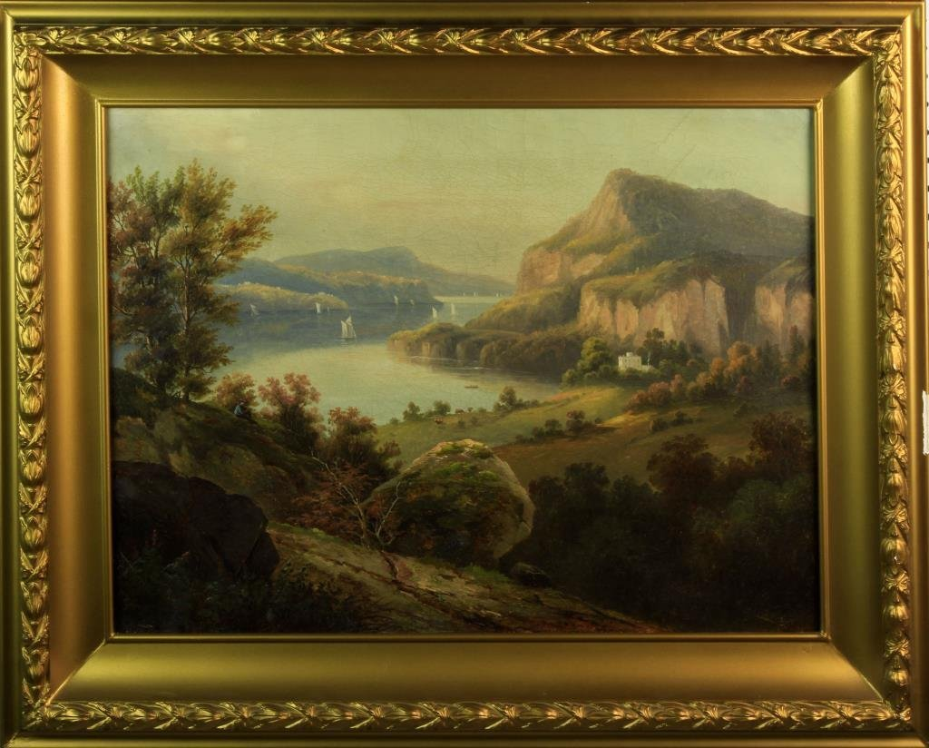 Hudson River School Oil Painting on Canvas C.1850's