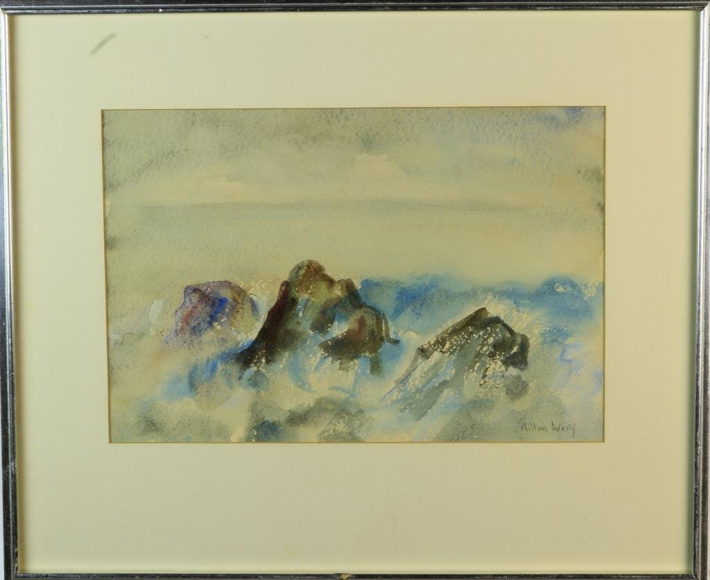 Milton Clark Avery Watercolor Painting on Paper