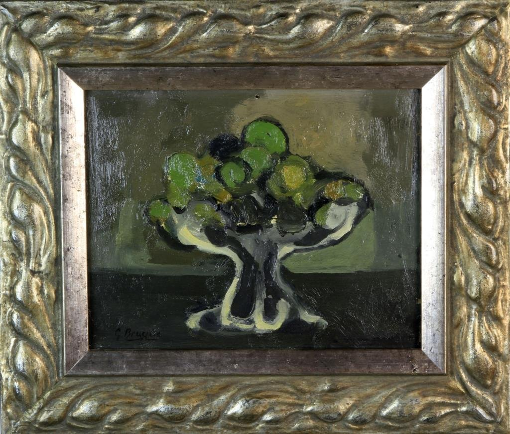 Attributed to George Braque Oil Painting on Wood