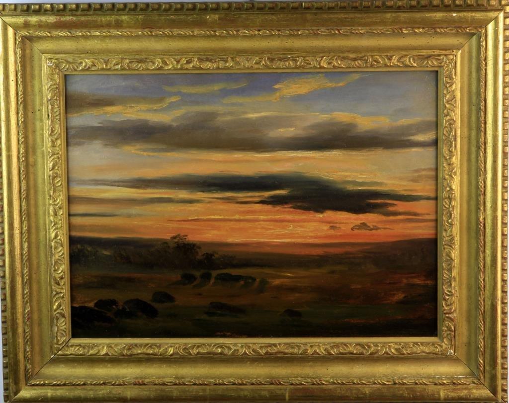 Attributed to Albert Bierstadt Oil Painting on Panel