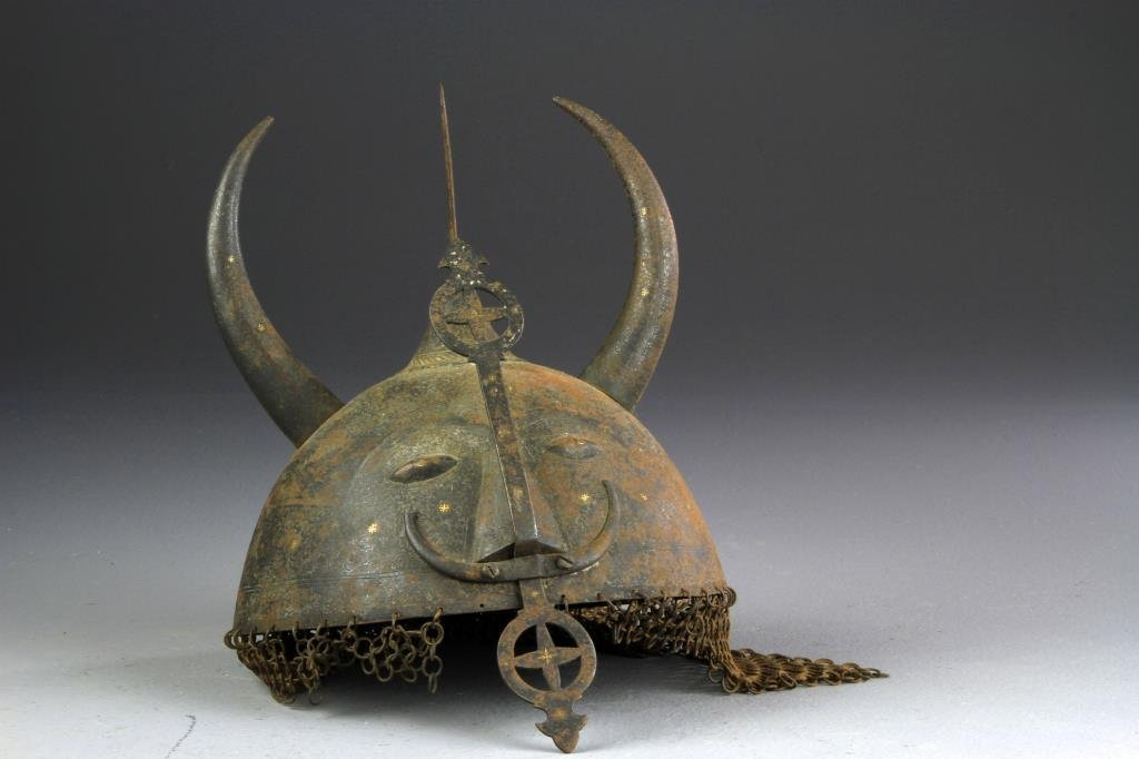 An Antique Copy of A Viking Helmet