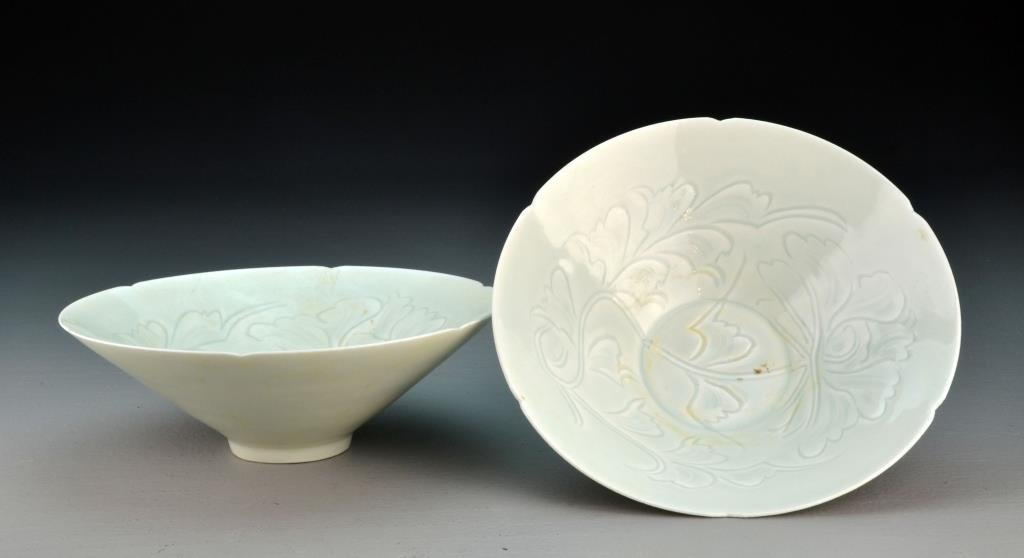 Pr. Chinese Celedon Porcelain Bowls