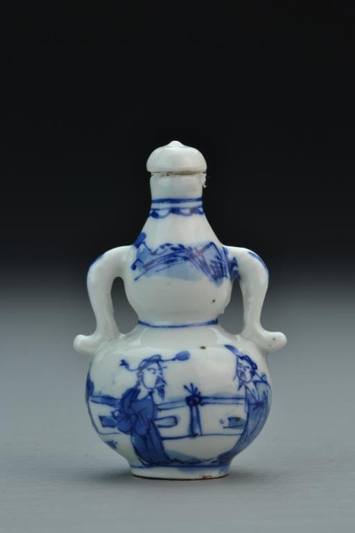 Chinese Blue and White Porcelain Snuff Bottle