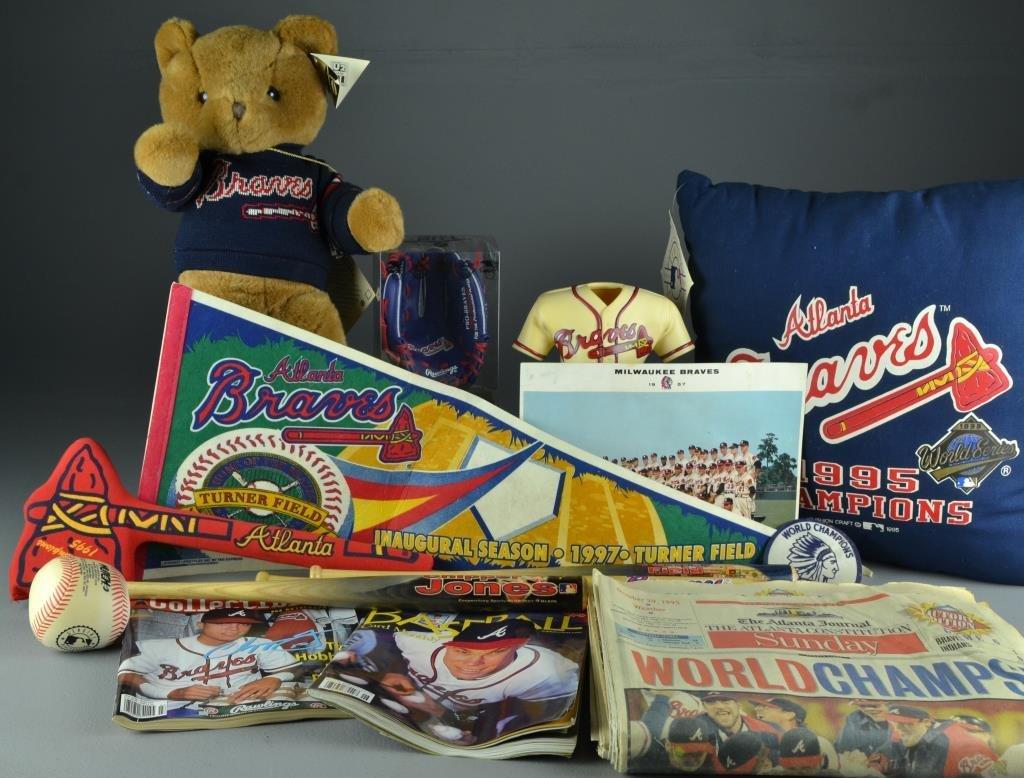 (100+) 1990's Atlanta Braves Memoribilia