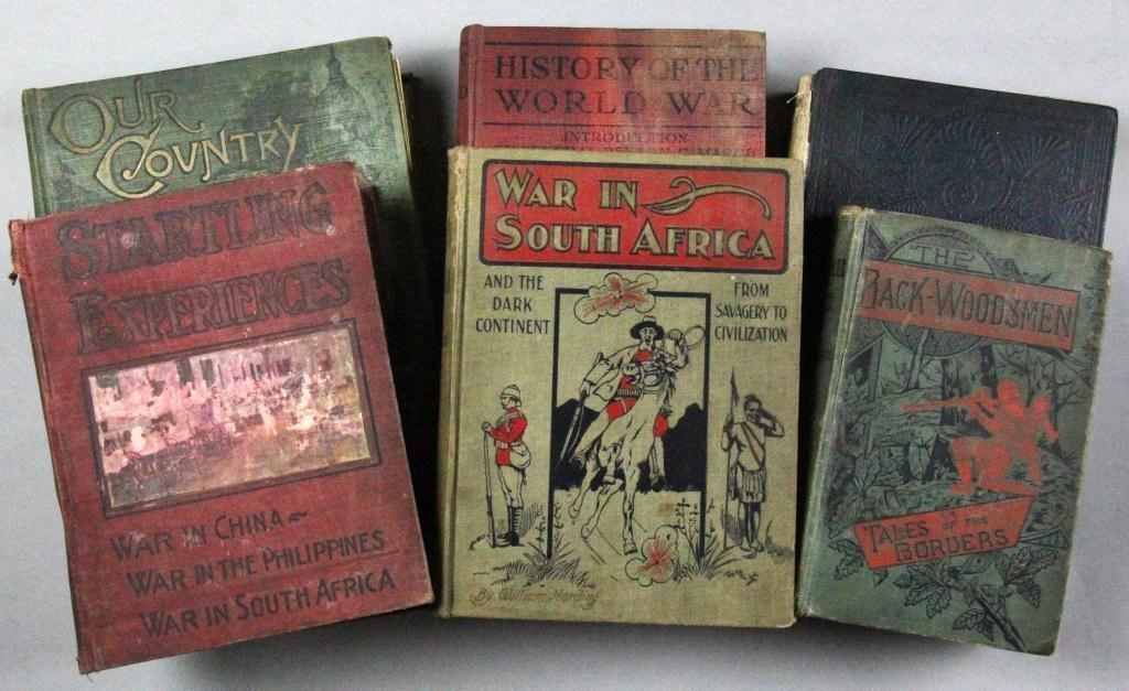 (6) Early Century War & Adventure Books