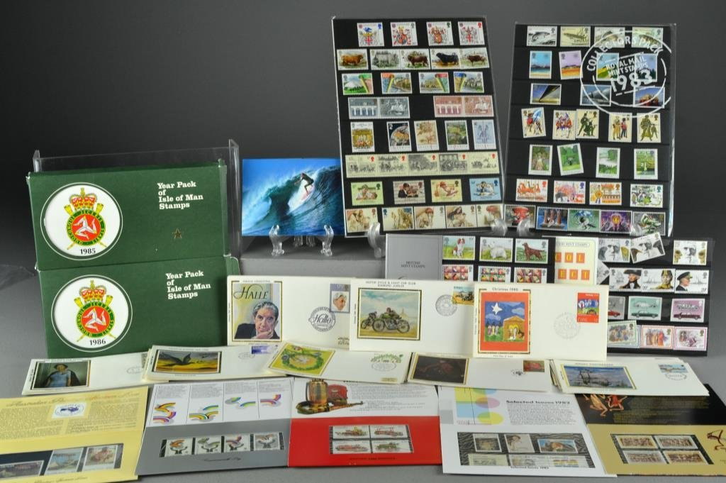 Box Lot Of British Commonwealth Stamps