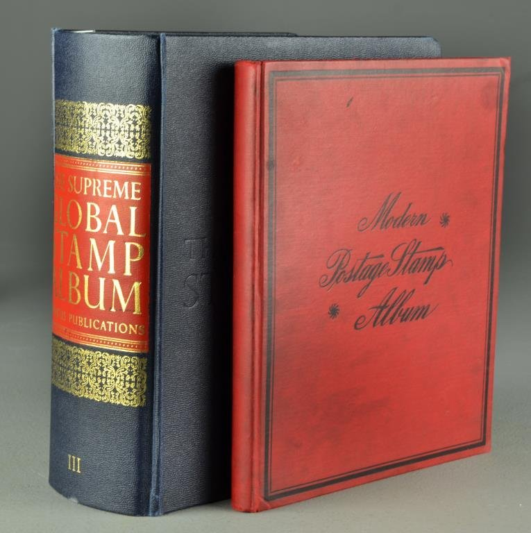 (2) Foreign Stamp Albums