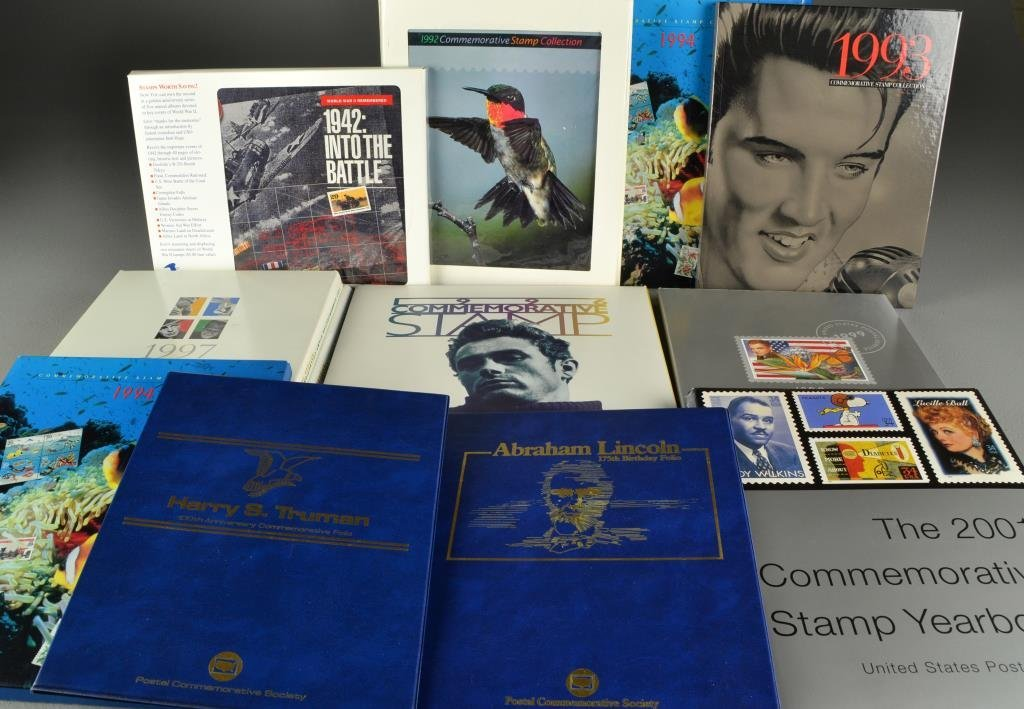 (32) U. S. Post Office Stamp Yearbooks With Mint Stamps