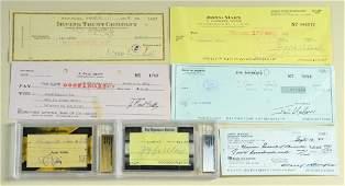7 Signed Checks Zeppo Marx J Paul Getty etc