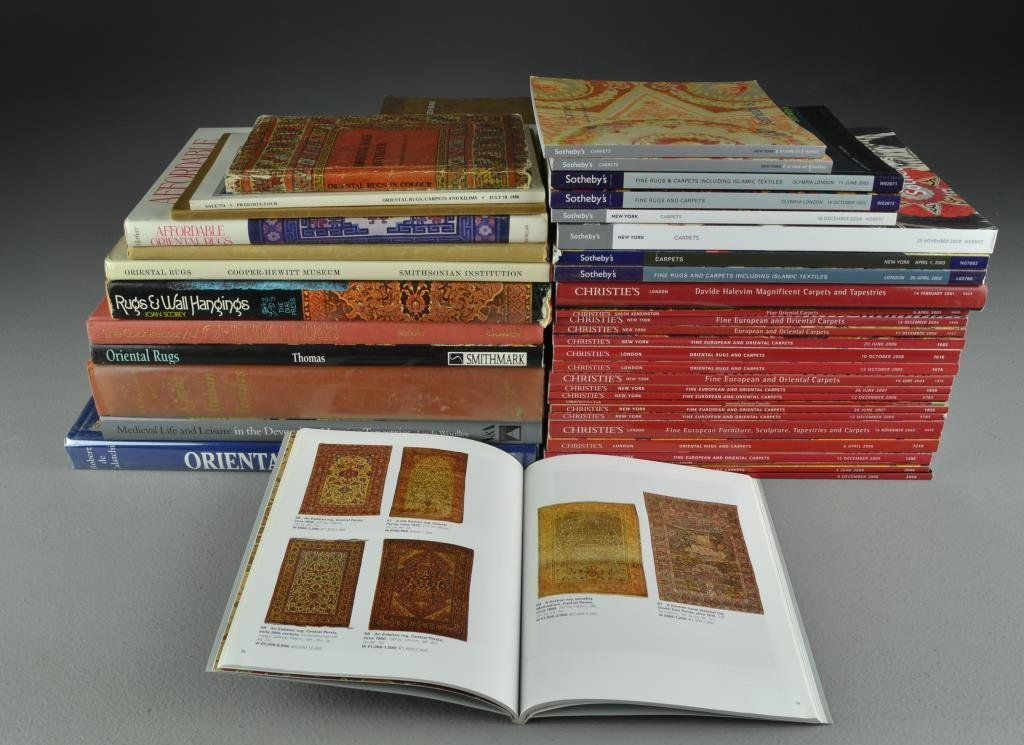 (40) Books, Sotheby's & Christie's Catalogs Rugs,