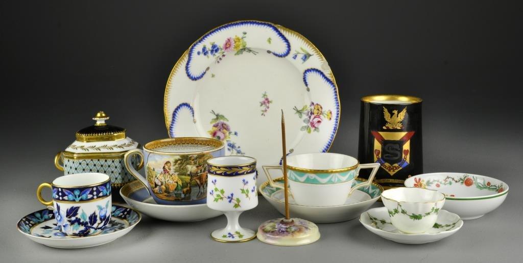 (11) Pcs. Continental Porcelain Items Inc. Limoges