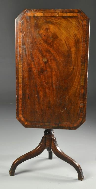 A Regency Inlaid Mahogany Tilt-Top Table